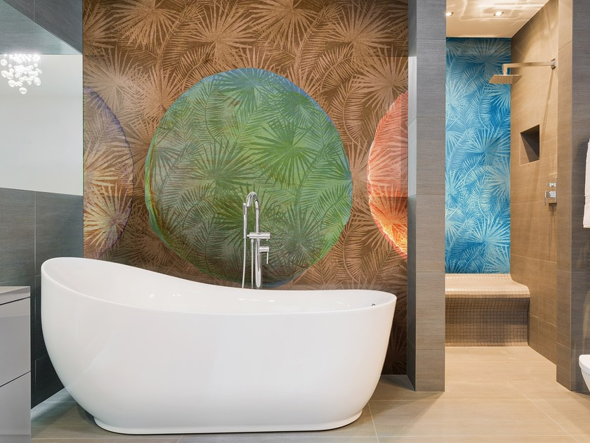 Glass-fibre bathroom wallpaper TROPICAL by Wall LCA