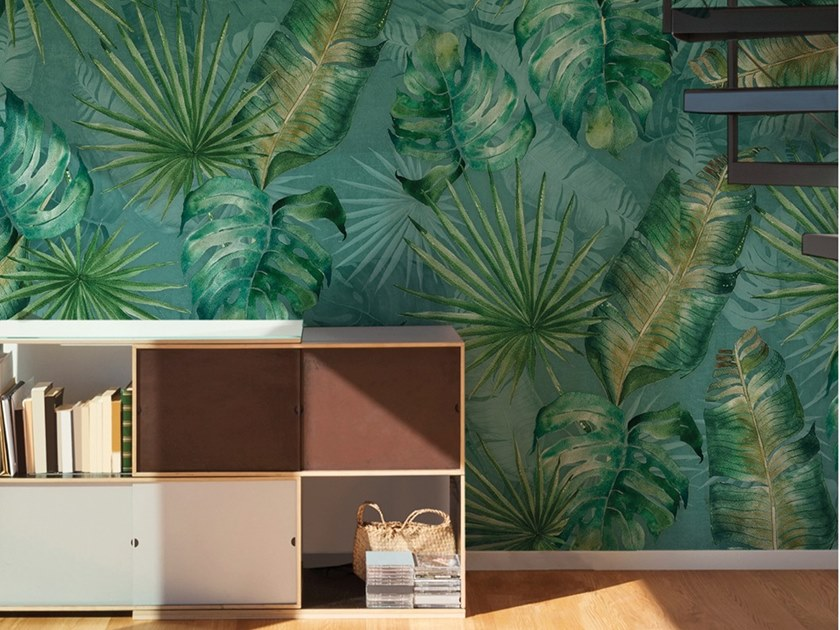 Ecological washable PVC free wallpaper TROPICALEAF by Wallpepper