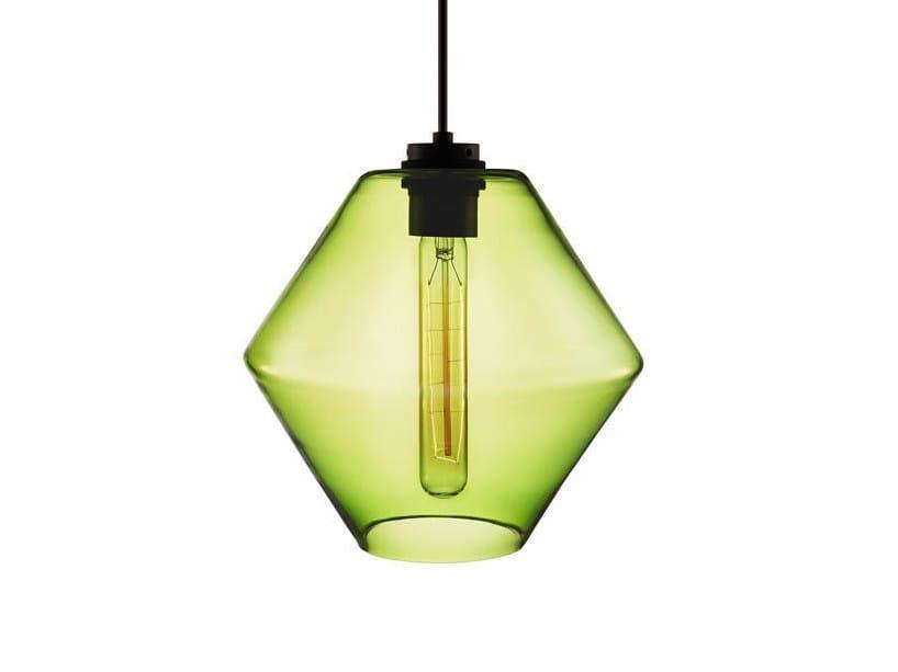 Handmade blown glass pendant lamp TROVE by Niche Modern