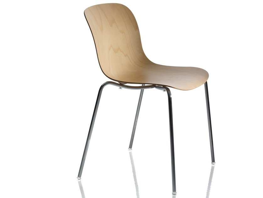 Stackable multi-layer wood chair TROY | Multi-layer wood chair by Magis