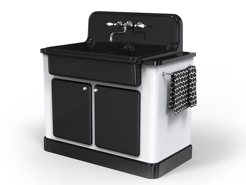 Modulo cucina freestanding in ceramica per lavello TRUE COLORS KITCHEN 90 | Modulo cucina freestanding by BLEU PROVENCE