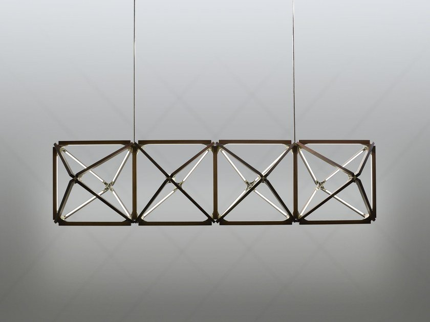 LED Wooden Pendant Lamp TRUSS X By Stickbulb