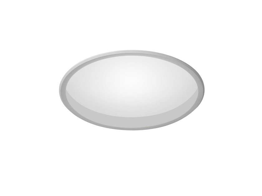 LED round recessed polycarbonate spotlight TRYBECA 150 ROUND WITH BEZEL by Reggiani