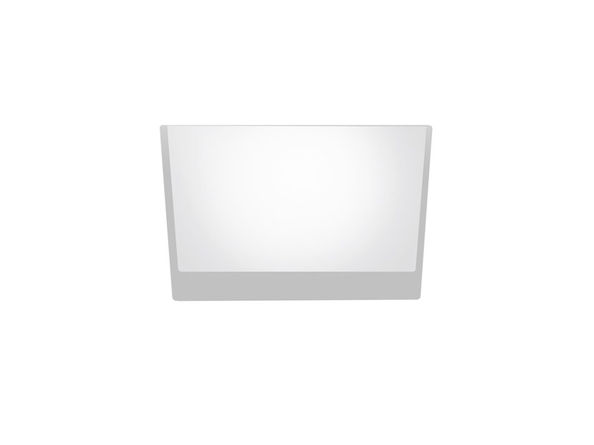 LED square recessed polycarbonate spotlight TRYBECA 150 SQUARE TRIMLESS by Reggiani