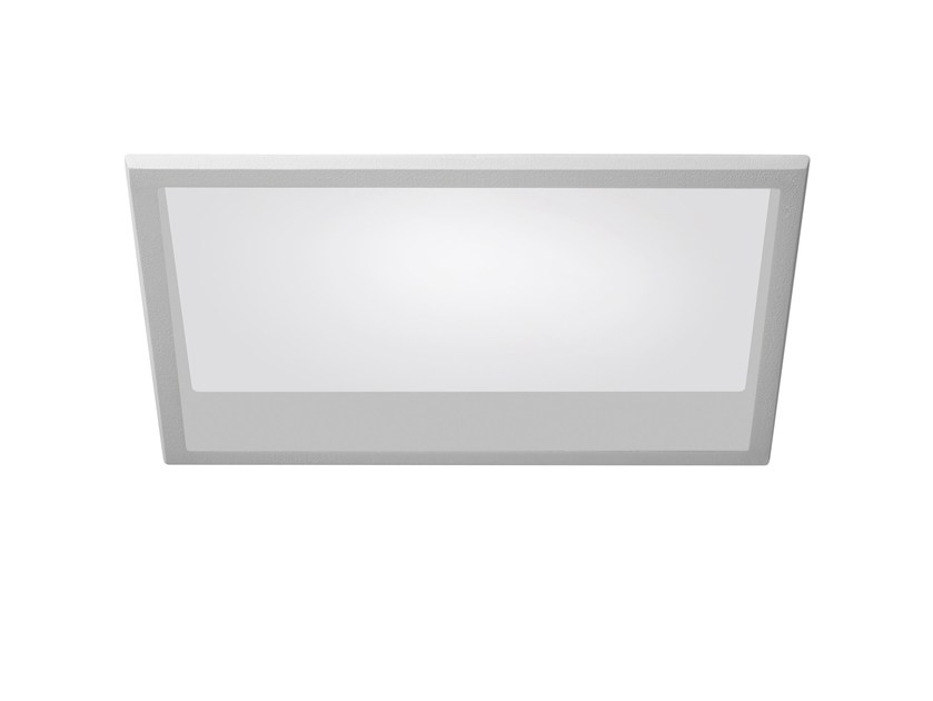 LED recessed polycarbonate ceiling lamp TRYBECA 300 RECTANGLE WITH BEZEL by Reggiani