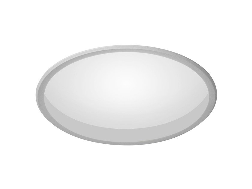 LED recessed polycarbonate ceiling lamp TRYBECA 300 ROUND WITH BEZEL by Reggiani