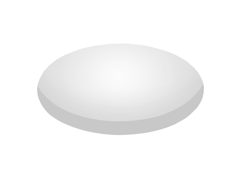 LED recessed polycarbonate ceiling lamp TRYBECA 300 ROUND TRIMLESS by Reggiani