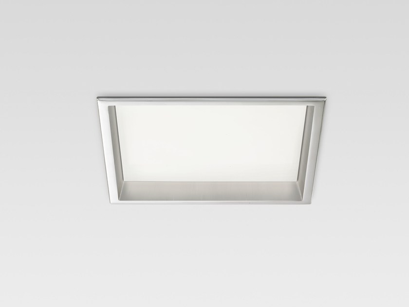 LED recessed polycarbonate ceiling lamp TRYBECA 300 SQUARE WITH BEZEL by Reggiani