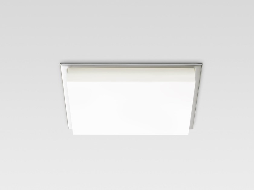 LED recessed polycarbonate ceiling lamp TRYBECA 300 SQUARE TRIMLESS by Reggiani