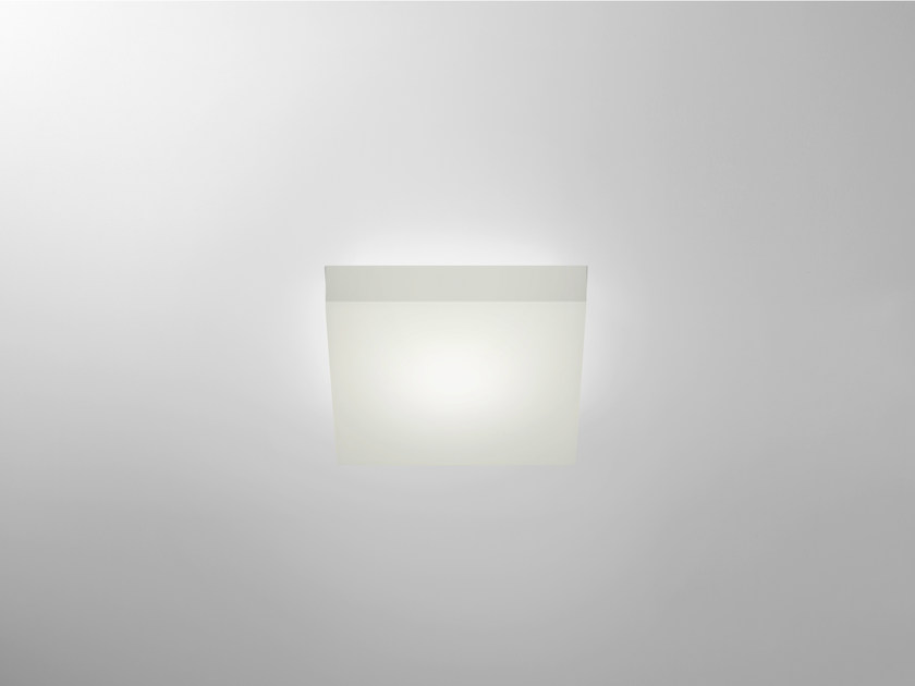 LED recessed polycarbonate ceiling lamp TRYBECA 38 SQUARE TRIMLESS by Reggiani