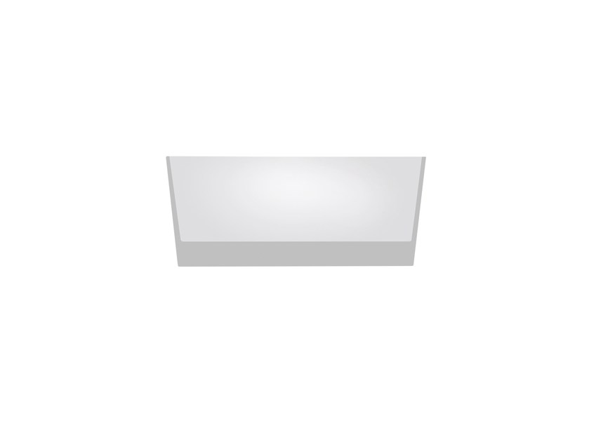 LED rectangular recessed polycarbonate spotlight TRYBECA 75 RECTANGLE TRIMLESS by Reggiani