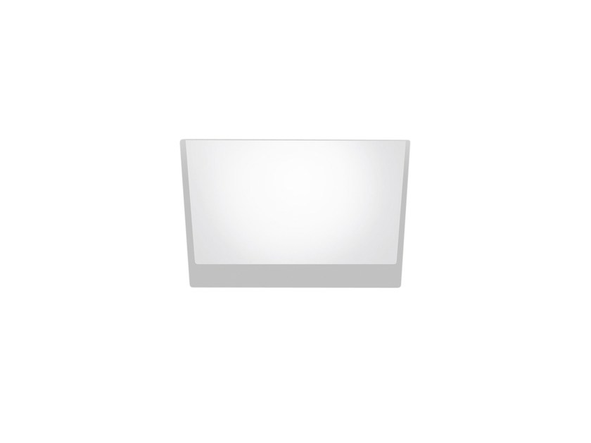 LED square recessed polycarbonate spotlight TRYBECA 75 SQUARE TRIMLESS by Reggiani