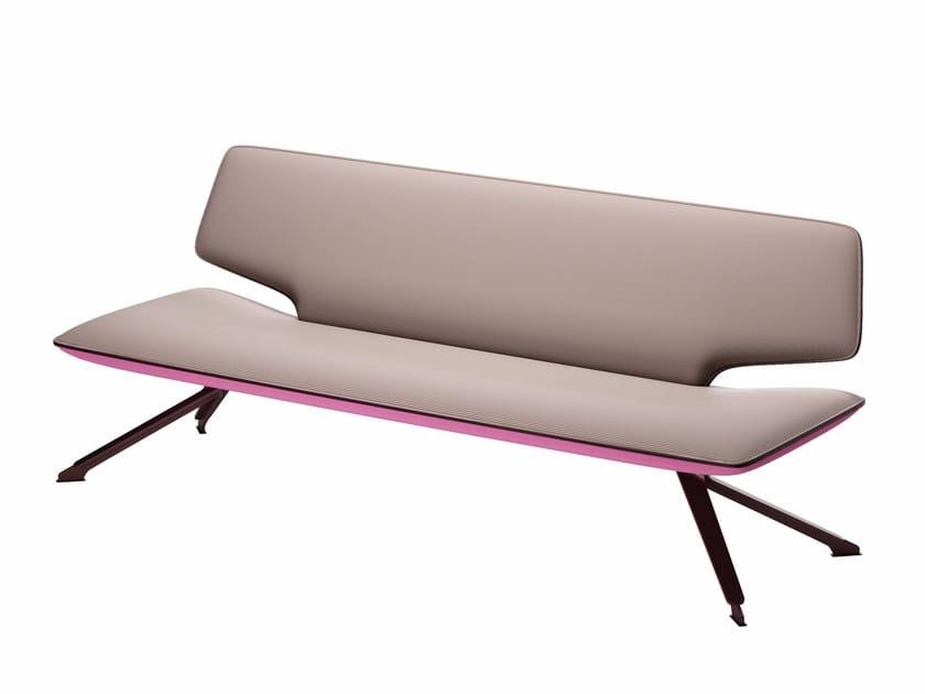 2 seater fabric sofa TT2 LOW SOFT - 606 by Alias