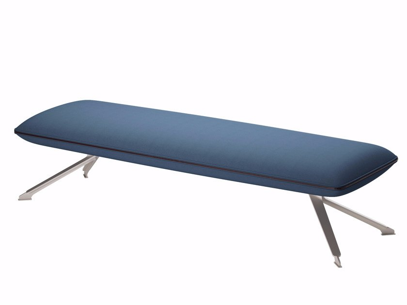 Upholstered fabric bench TT3 FLAT SOFT - 608 by Alias