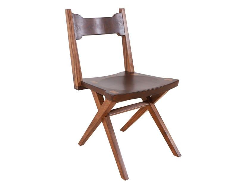 Teak and beech chair TUAI   Teak chair by ALANKARAM