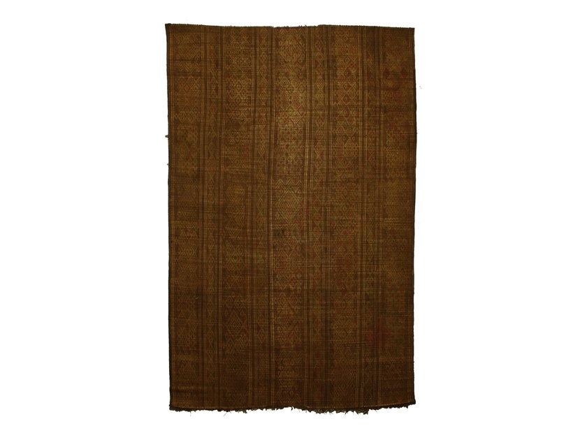 Rectangular wood and leather Mat TUAREG ST034TU by AFOLKI