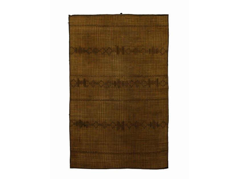 Rectangular wood and leather Mat TUAREG ST040TU by AFOLKI