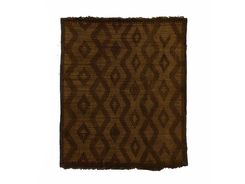 Rectangular wood and leather Mat TUAREG ST042TU by AFOLKI