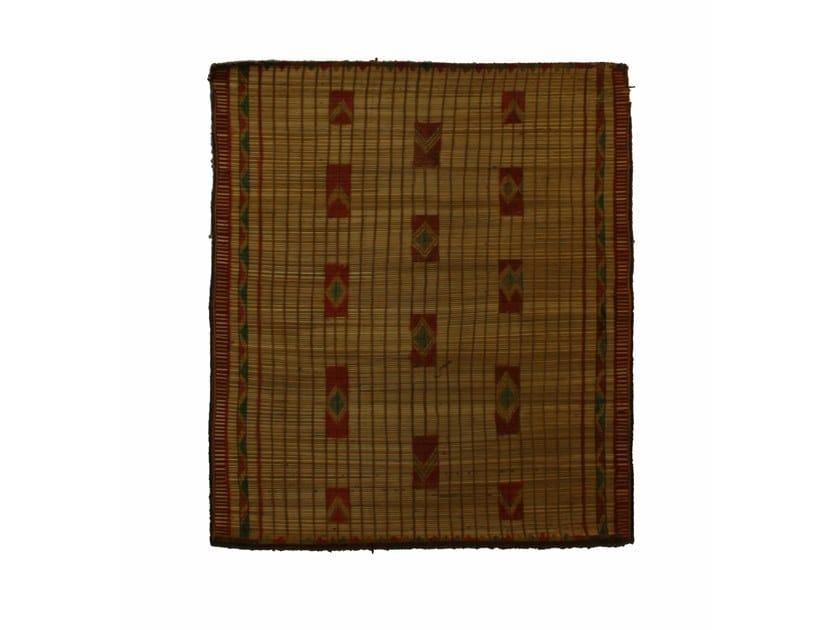 Rectangular wood and leather Mat TUAREG ST043TU by AFOLKI