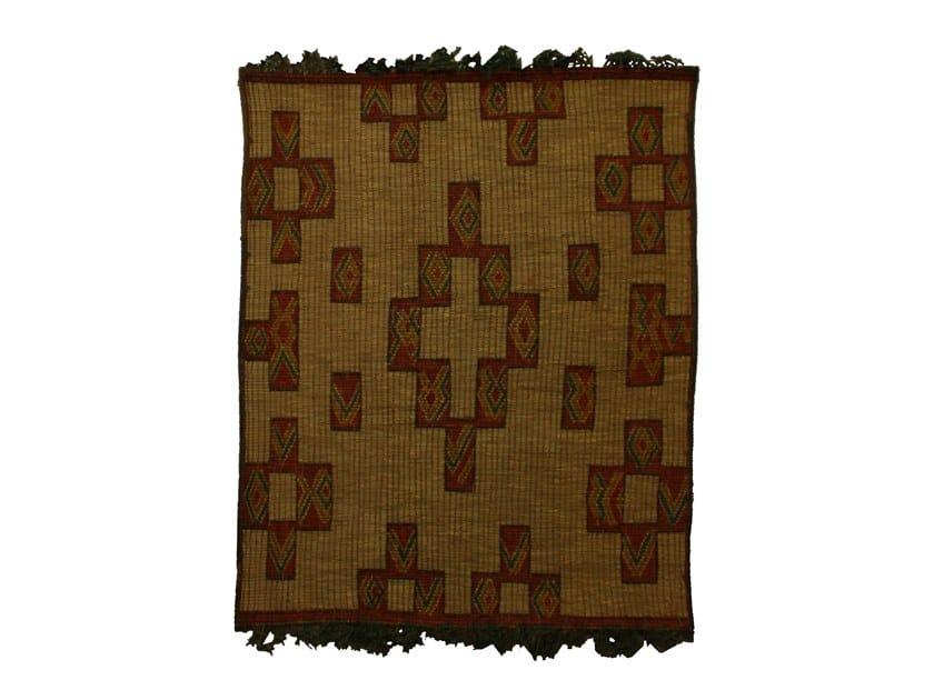 Rectangular wood and leather Mat TUAREG ST044TU by AFOLKI