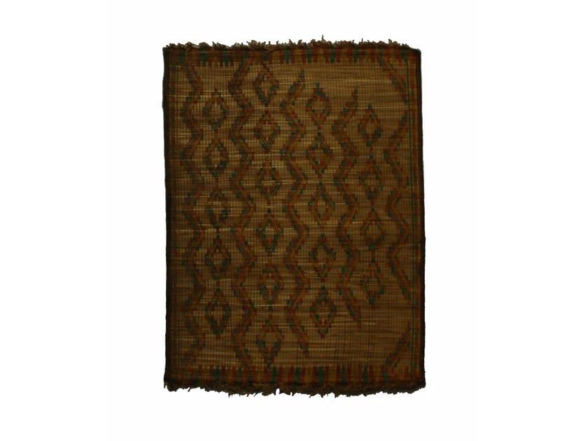 Rectangular wood and leather Mat TUAREG ST049TU by AFOLKI