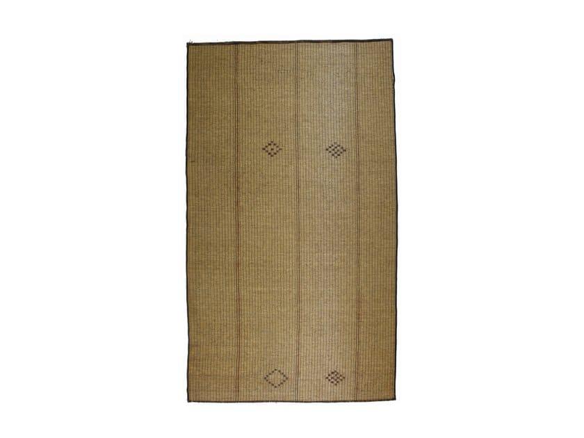 Rectangular wood and leather Mat TUAREG ST54TU by AFOLKI