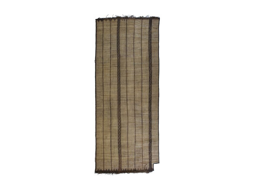 Rectangular wood and leather Mat TUAREG ST59BE by AFOLKI