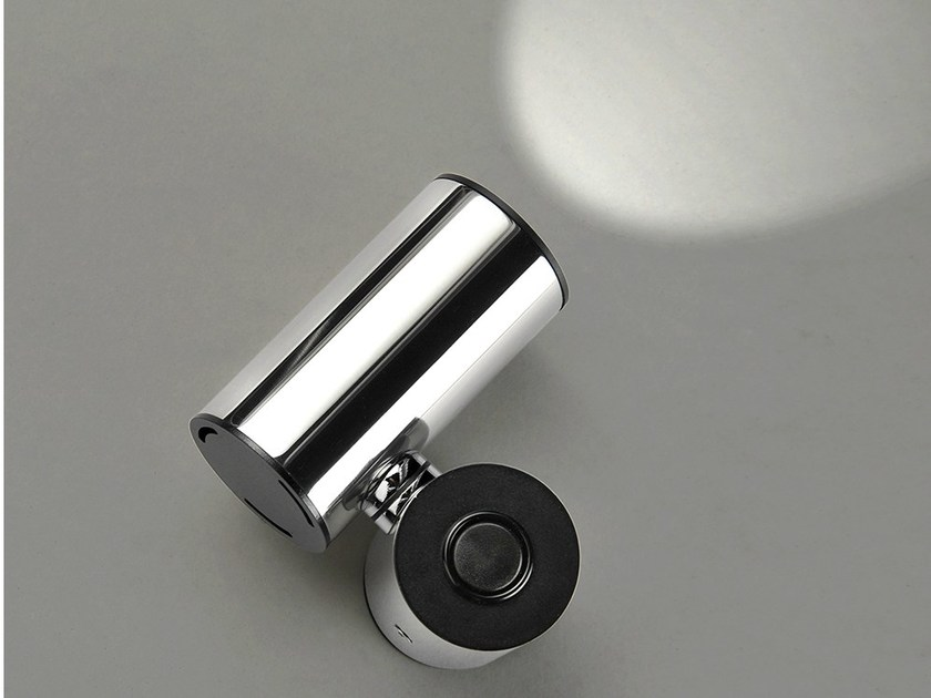 LED wall-mounted adjustable stainless steel spotlight TUB LED 6510 by Milan Iluminacion
