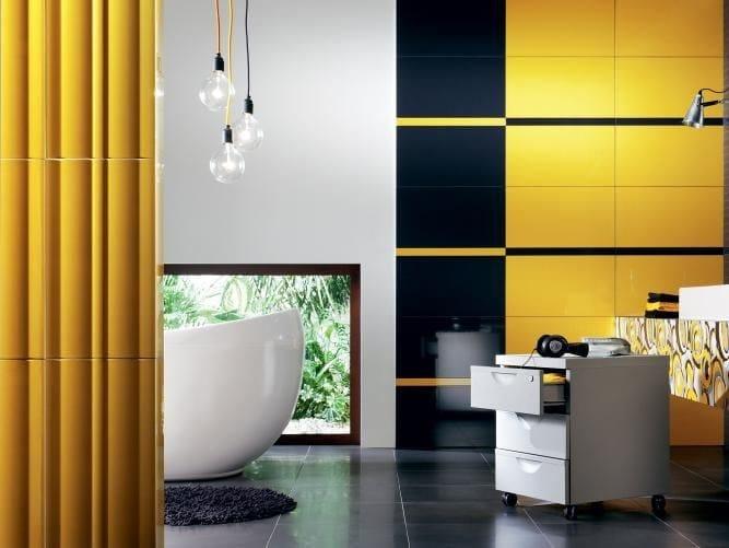 Indoor wall tiles TUBADZIN COLOUR YELLOW by tubadzin
