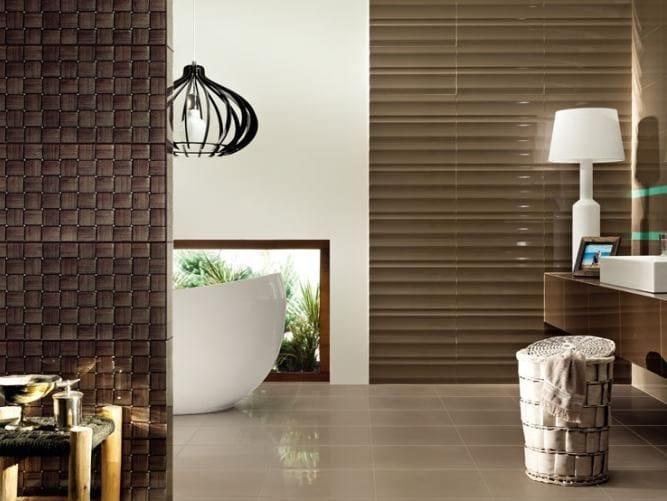 Indoor wall tiles TUBADZIN COLOUR BROWN by tubadzin