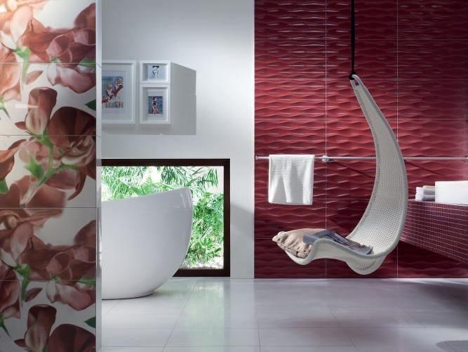 Indoor wall tiles TUBADZIN COLOUR CARMINE by tubadzin