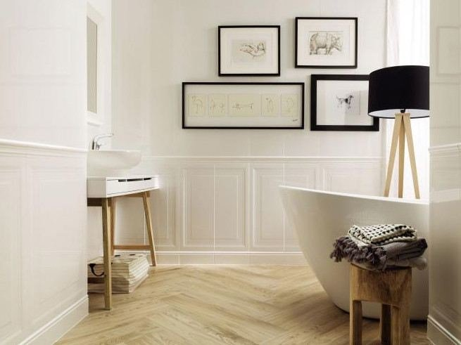 Porcelain stoneware wall/floor tiles with wood effect TUBADZIN ROYAL PLACE | Wall/floor tiles by tubadzin