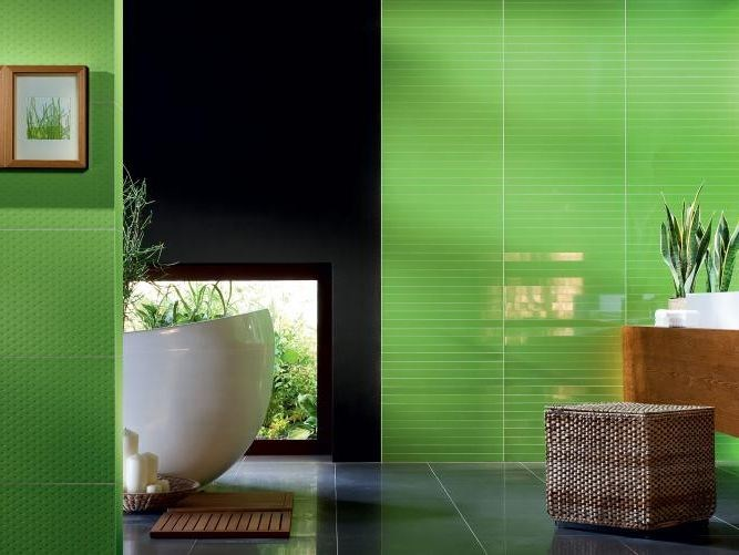 Indoor wall tiles TUBADZIN COLOUR GREEN by tubadzin