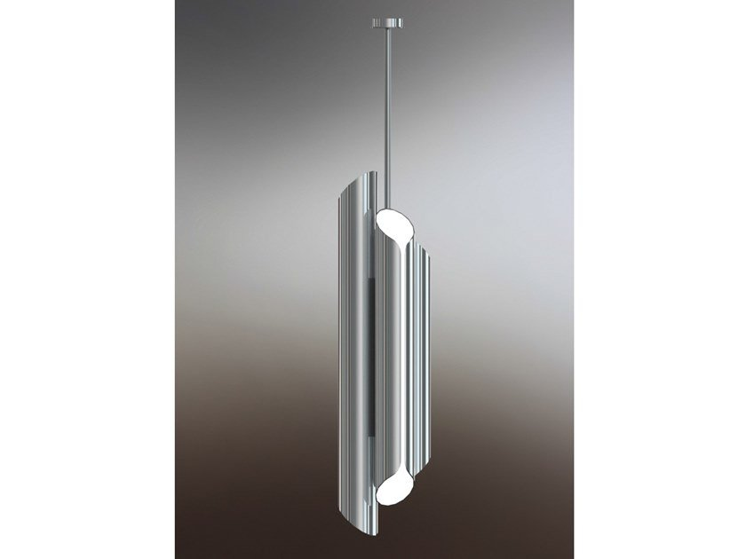 LED steel pendant lamp with dimmer TUBES by Marzais Créations