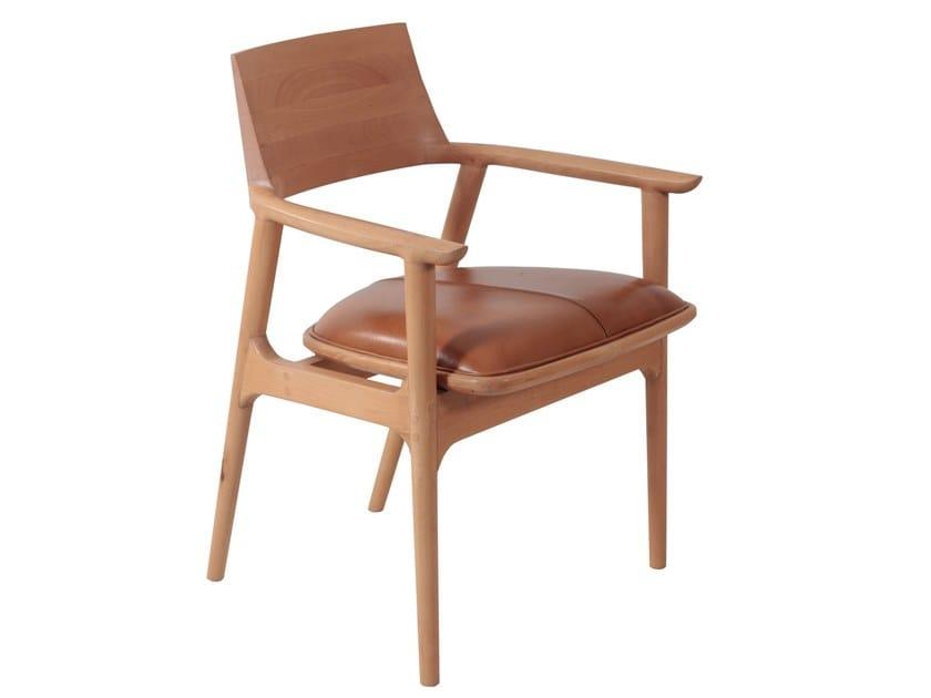 Beech chair with integrated cushion TUETTU | Beech chair by ALANKARAM