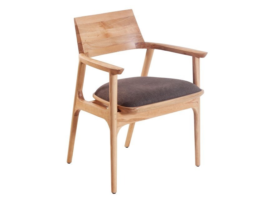 Solid wood chair with integrated cushion TUETTU | Solid wood chair by ALANKARAM