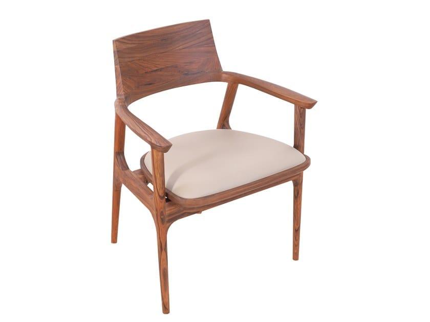 Teak chair with integrated cushion TUETTU | Teak chair by ALANKARAM