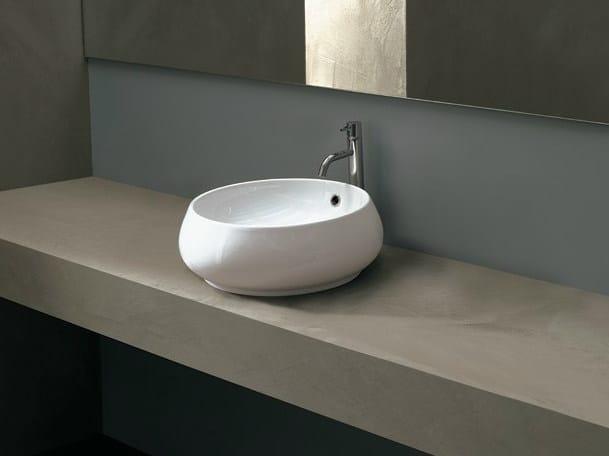 Countertop round ceramic washbasin TULIP BIG by Alice Ceramica