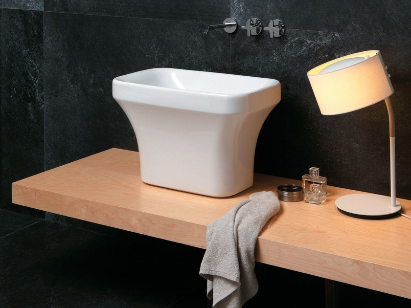 Countertop ceramic washbasin TULIP | Countertop washbasin by AZZURRA sanitari