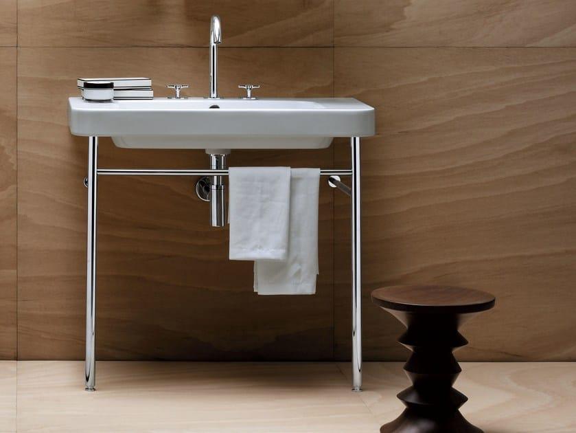 Console washbasin with towel rail TULIP   Console washbasin by AZZURRA sanitari