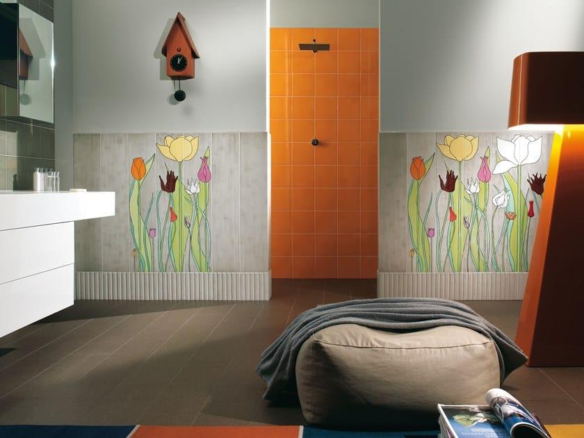 Rivestimento in ceramica per interni tulipani by ceramica bardelli