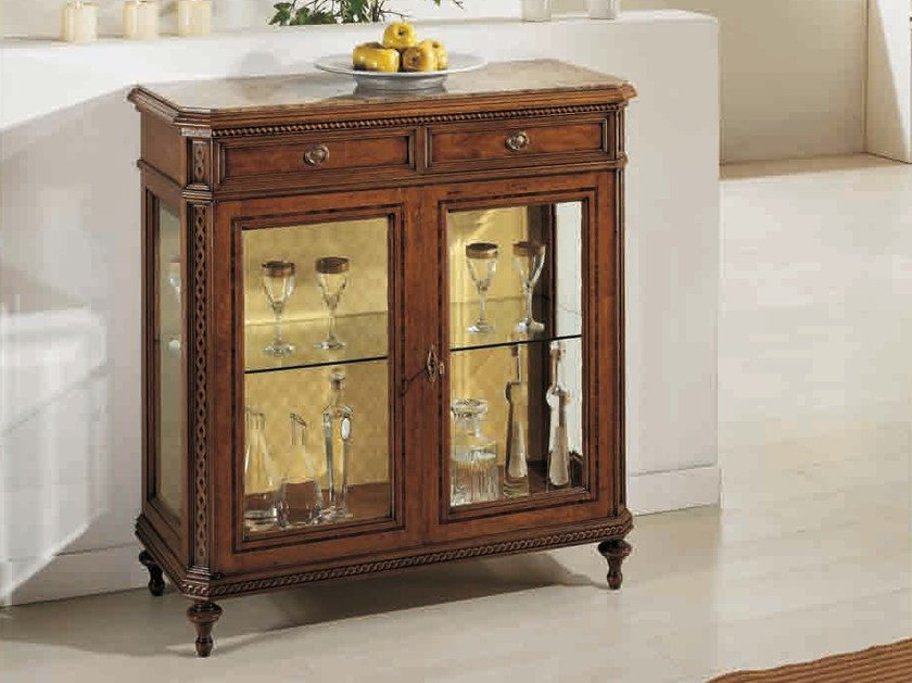 Solid wood display cabinet TULIPANO by Arvestyle