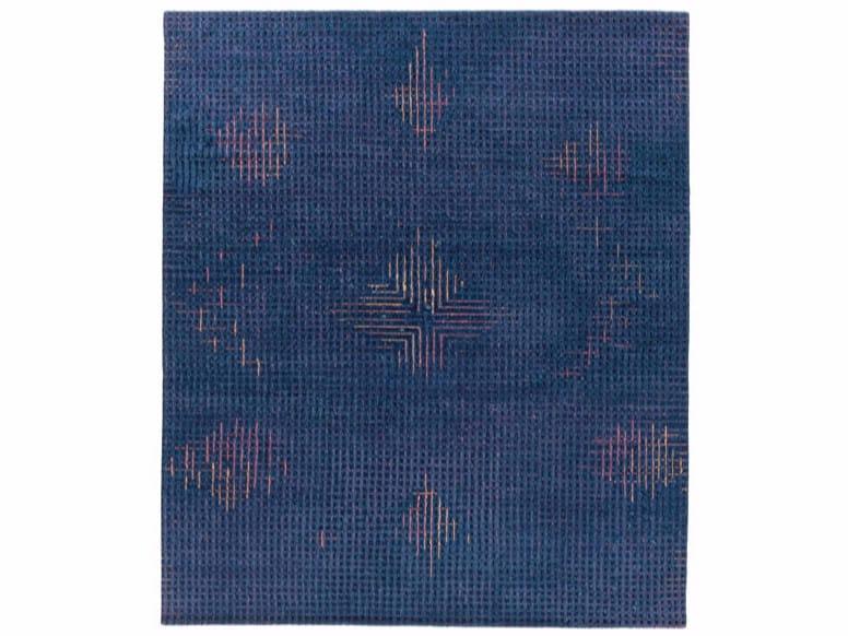 Tappeto fatto a mano rettangolare TUMULTE BLUE by Golran