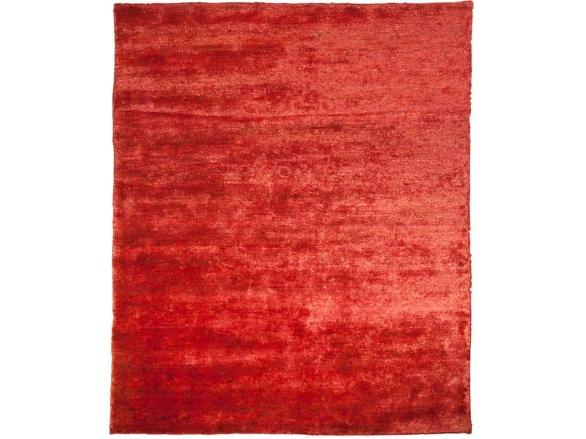 Handmade rectangular rug TUNDRA RED by EBRU