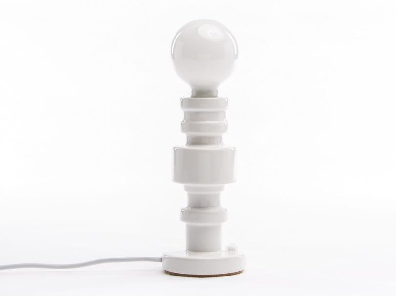 Porcelain table lamp TURN | Table lamp by Seletti