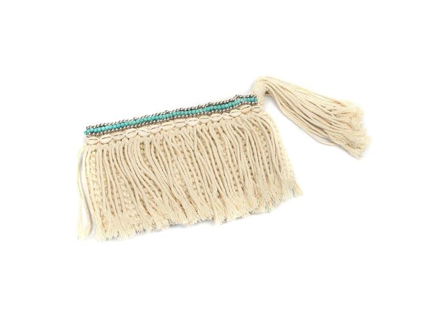 Cotton bag TURQUOISE MACRAME by Bazar Bizar