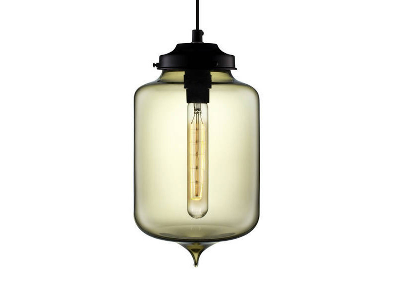 LED handmade blown glass pendant lamp TURRET by Niche Modern