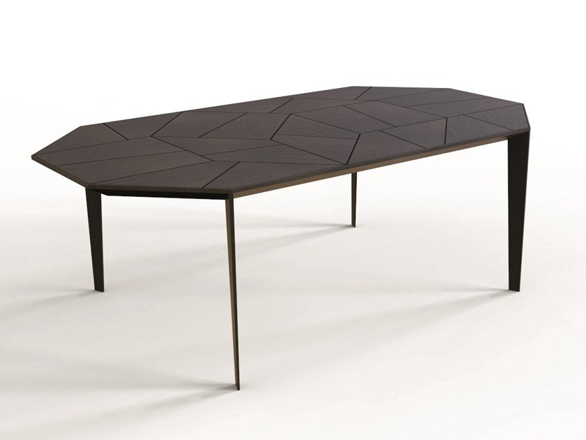 Octagonal oak table TURTLE by CP Parquet