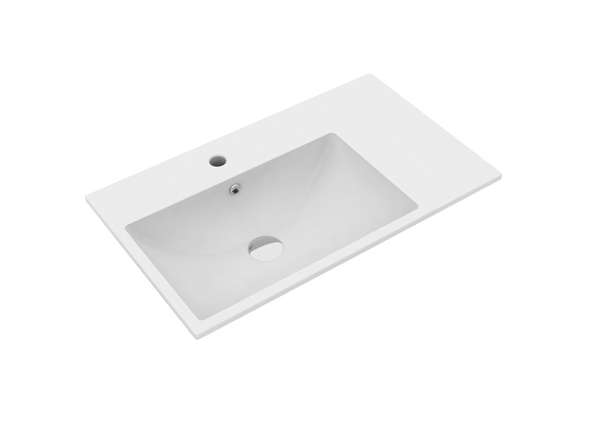 Lavabo rectangulaire simple suspendu TUTTO EVO | Lavabo rectangulaire by Olympia Ceramica