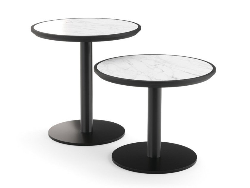 Round marble side table TUXEDO | Round coffee table by PRADDY